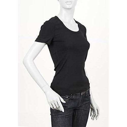 (スリードッツ) three dots UネックTシャツ Sサイズ Jessica BLACK [並行輸入品]