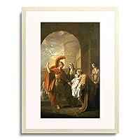 West, Benjamin,1738-1820 「Hector nimmt Abschied von Andromache.」 額装アート作品