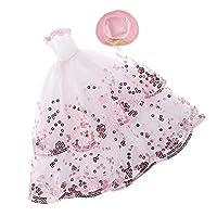 KESOTO 30cm 12インチガールドール用 ドール服 ウェディングドレス ハット 3色選ぶ - ピンク