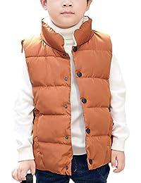 e851501e780f7 キッズ ダウン ベスト 軽量 保温 防寒 袖なし 中綿ベスト 裏起毛 赤ちゃん 子供 ...