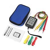友美 SP8030 3相回転テスターデジタル位相インジケーター検出器LEDブザー位相シーケンスメーター電圧テスター200V-480V AC