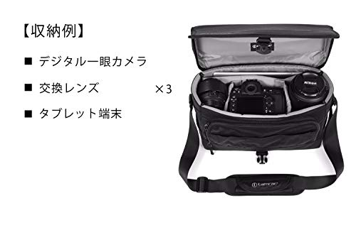 【国内正規品】tamrac カメラバッグ デレコ 8 ブラック カメラショルダー 小型一眼/ミラーレス収納 8.0L T0720-1919