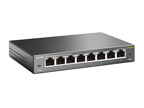 TP-Link 8ポート 10/100/1000Mbps ギガビット イージー スマート スイッチ TL-SG108E