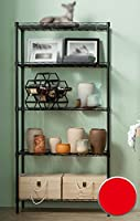5つの本棚研究棚/キッチンラック/リビングルーム棚 (色 : 黒)