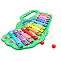 ノーブランド品 鉄琴 おもちゃ 出産祝い 1歳 2歳 3歳 誕生日 安全塗料の知育玩具 プレゼント 孔雀