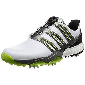[アディダスゴルフ] ゴルフシューズ スパイク powerband Boa boost powerband Boa boost Q44848 ホワイト/アイアンメタリック/ソーラースライム 24.5 3E