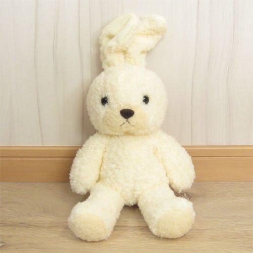 童心オリジナル 日本製 ウサギのフカフカM ぬいぐるみ 高さ35cm クリーム
