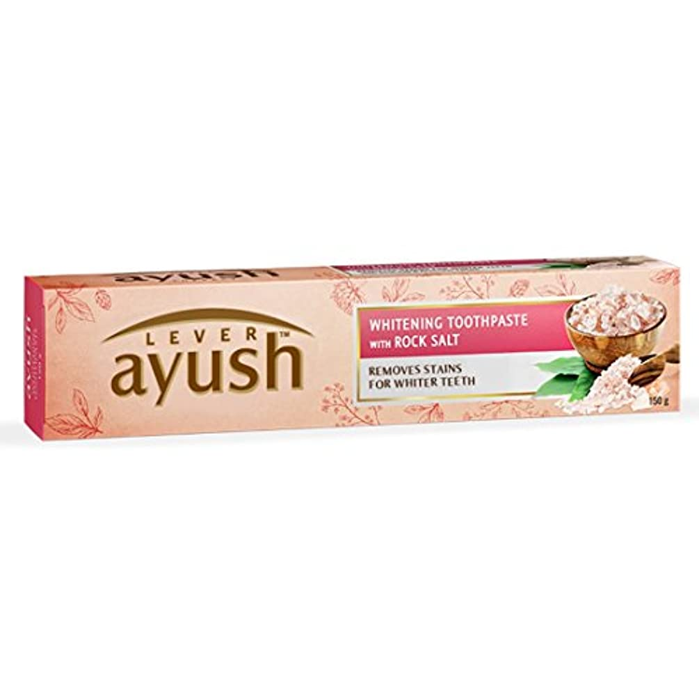 持続する苦行不定Ayush Whitening Toothpaste - 150 g (Rock Salt)