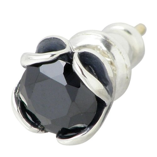 HEART OF CONCEPT ハートオブコンセプト ストーン シルバー ピアス ブラック キュービック 1個売り 片耳用 スタッドタイプ HCE-43BKCZ