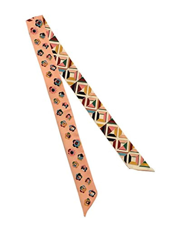 COMVIP アクセサリー バッグ スカーフ バッグ用 巻きつけ レディース ツイリー スカーフ カバン 持ち手 小物 リボンスカーフ