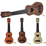 hioplo キッズシミュレーションギター 17インチ 4弦 子供用 ギター おもちゃ 楽器 早期教育 楽器 音楽ギフト アコースティックおもちゃ ギター 38.5cm(15inch) ブラウン PLM034357_2_CO