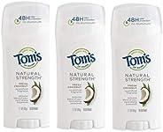 Tom's of Maine Natural Strength Deodorant, Natural Deodorant, 48-Hour Odor Protec