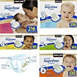 Premium Diapers, Size 3 up to 16, 28 Lbs (208 Diapers) by Kirkland Signature