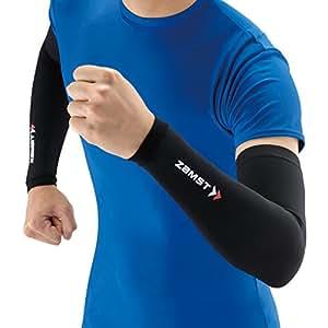 ザムスト(ZAMST) 腕 コンプレッションアイテム アームスリーブ ランニング バレー Sサイズ 両腕入り ブラック 375801
