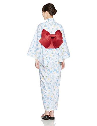 (ディータ)Dita 作り帯仕様 レディース 本格女性浴衣 選べる27柄 すぐにお出かけフルセット 2017年デザイン 浴衣本体(ゆかた)・帯(つくりおび)・下駄(ゲタ)の3点セット+着付けスタイルブック(冊子)の計4点 2:白藍調の夏牡丹