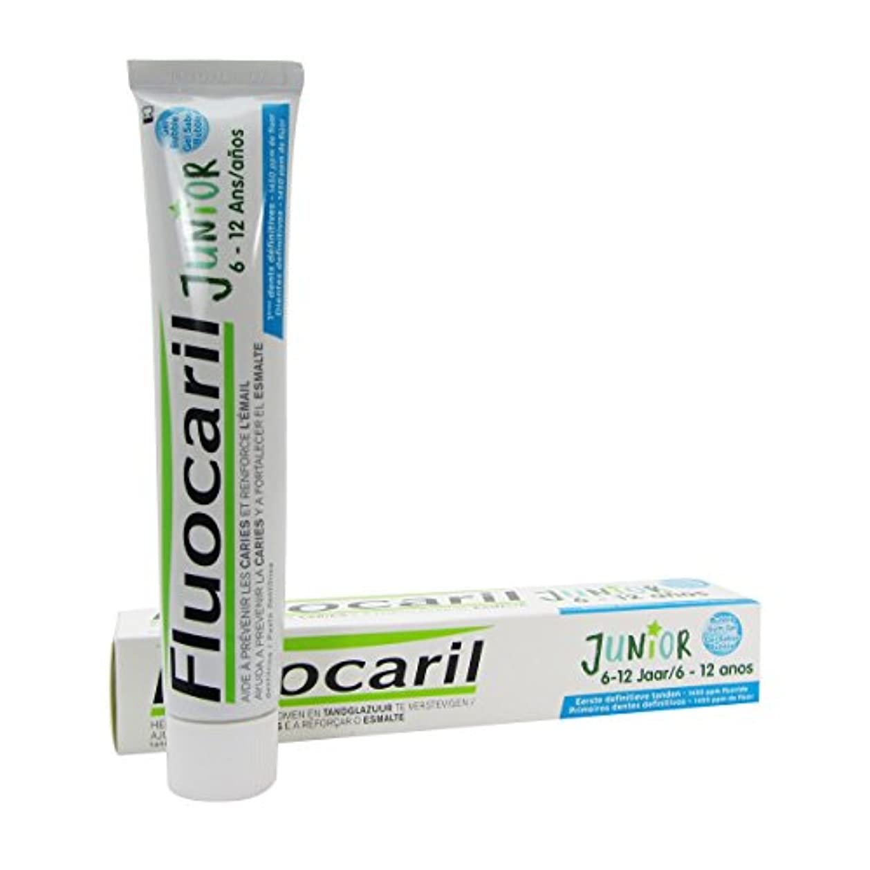 リップ海峡刺すFluocaril Junior 6 To 12 Bubble Dentifrice Gel 75ml [並行輸入品]