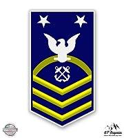USCG US Coast Guard MCPO e-9マスターChief Petty Officer–ビニールステッカー防水デカール