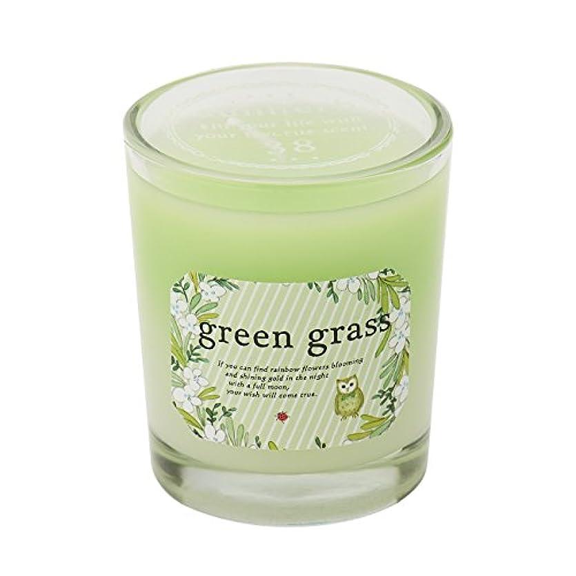 愛国的な氷エクステントサンハーブ グラスキャンドル グリーングラス 35g(グラデーションろうそく 燃焼時間約10時間 爽やかでちょっと大人の香り)