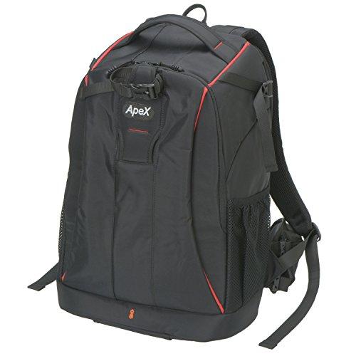 エツミ カメラバッグ リュック アペックスグランデ 20L ブラック/レッドライン VE-4210
