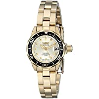 Invicta Women's 17038 Pro Diver Analog Display Japanese Quartz Gold Watch