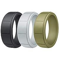 アクティブ男性の女性のためのGOGOシリコン結婚指輪バンドプロアスレチックゴムバンド - 色込 9-12