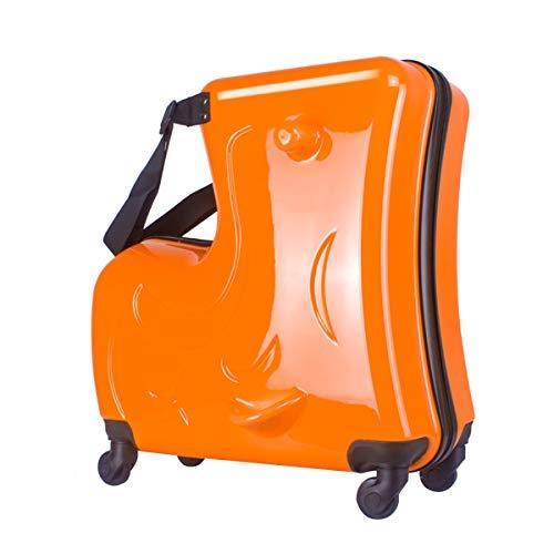 Urhomy キャリーケース 子供乗座可能トロリーケース スーツケース キャリーバッグ 木馬 丈夫 軽量 静音 可愛い 人気 20/24インチ 男女兼用 旅行 通学 遠足 出かけ便利 おしゃれ 着席トロリーケース スピナーホイール荷物 B07TTBTKM2 1枚目