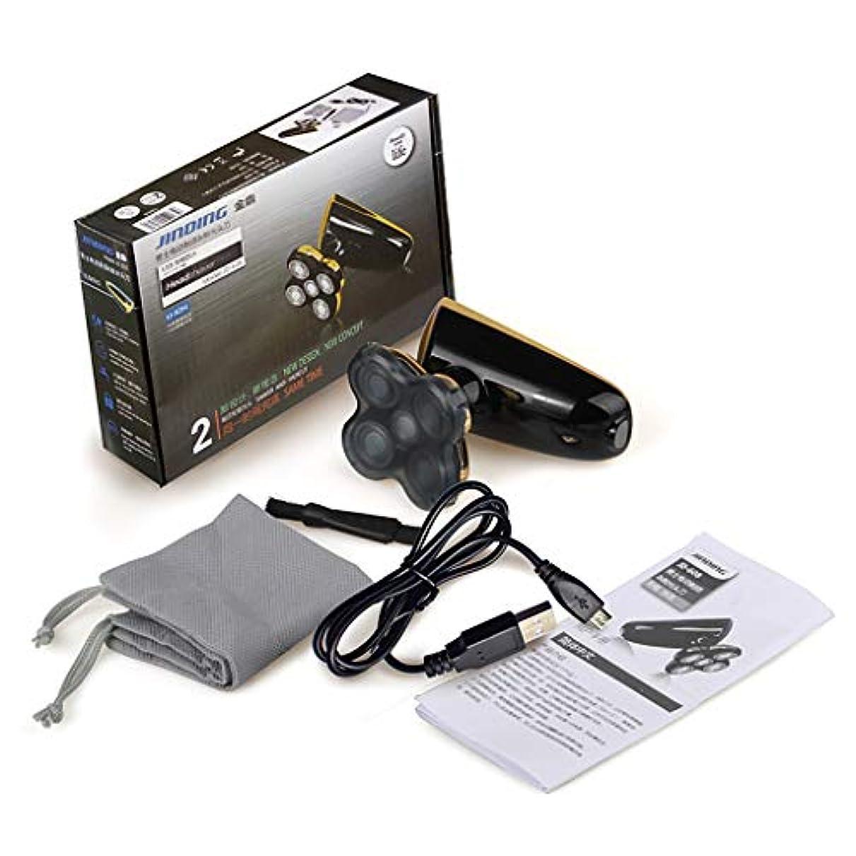 ウナギ悪化するアンティークBaoyouls 乾湿両方の使用ポータブルUSB充電シェービングヘッドマシン5ヘッド電気かみそり防水シェーバー