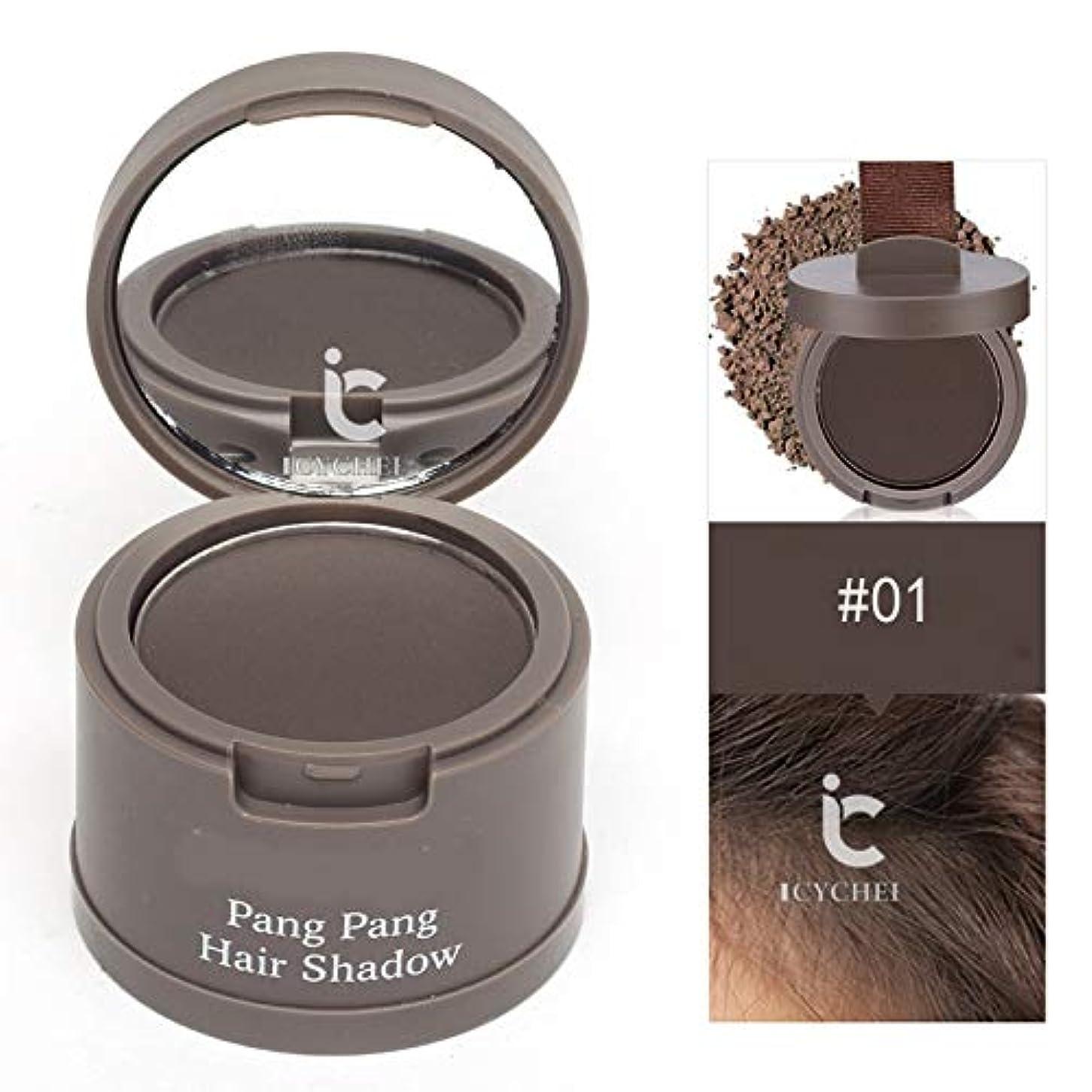 空港充電愚かな髪のためのヘアラインシャドウパウダー髪のシェーダレタッチルーツと髪パーフェクトカバレッジをラスティングICYCHEER防水ロング (01)
