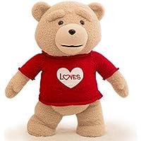 赤のセーターwith aハートTシャツTeddy Bear Clothesフィットfor 14 – 18インチTed Bear ( Bear Not Included、のみの服、build-a-bear、Vermont Teddy Bears , and Make Your Own Stuffed Animals