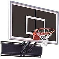 最初チームUnichamp Eclipse steel-glass調節可能な壁マウントバスケットボールsystem44 ; black44 ;調節可能な壁マウントバスケットボールシステム