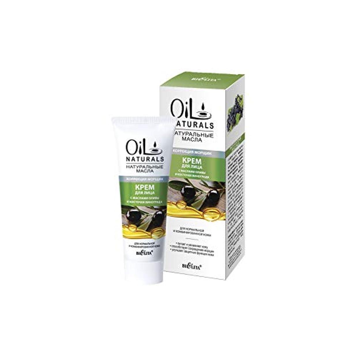 国際リビジョン中級Bielita & Vitex | Oil Naturals Line | Wrinkle Correction Face Cream for Normal Skin, 50 ml | Olive Oil, Silk Proteins...