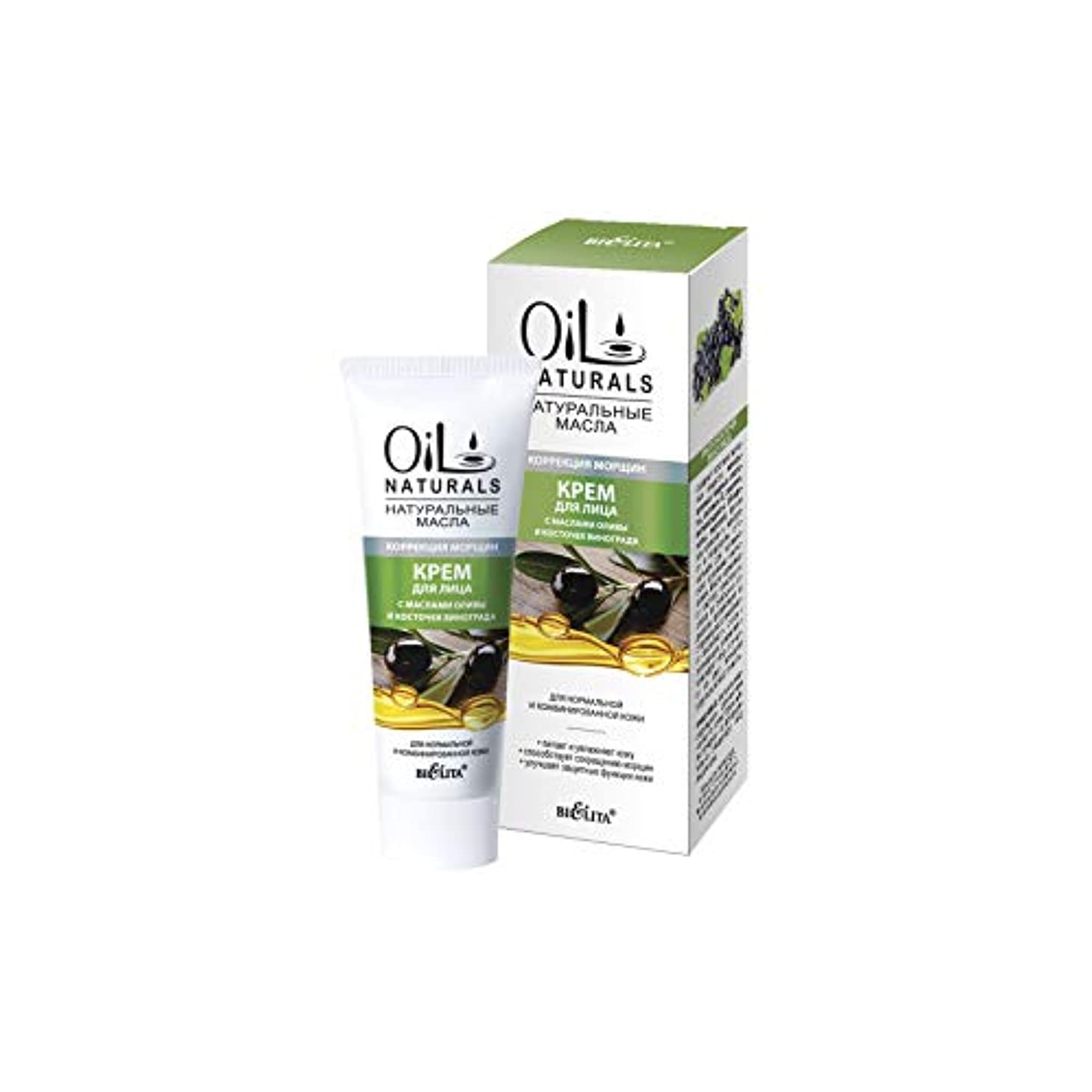 アクティビティ操作委託Bielita & Vitex   Oil Naturals Line   Wrinkle Correction Face Cream for Normal Skin, 50 ml   Olive Oil, Silk Proteins...