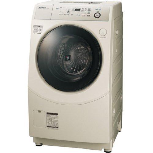 シャープ 9.0kg ドラム式洗濯乾燥機 【左開き】 ゴールド...