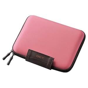エレコム 電子辞書ケース 2タイプ開閉方式 イヤホン・タッチペン・SDカード収納ポケット付 ピンク DJC-024PN