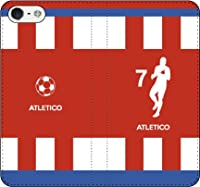 iPhone/Xperia/Galaxy/他機種選択可:サッカーシルエット手帳(ホーム/アトレティコ_7番_A) 03 iPhone6/6s