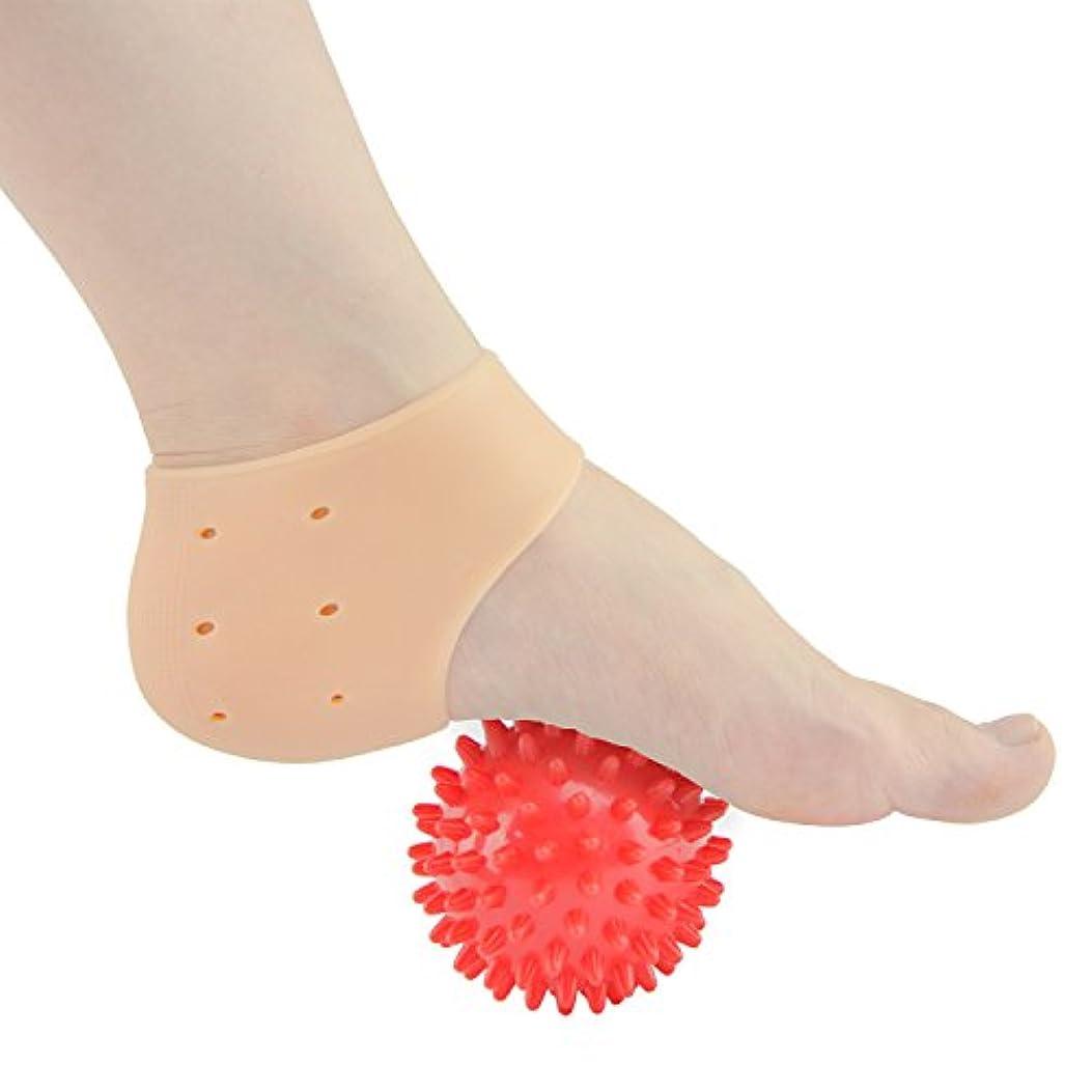 しゃがむみがきます偽造Sumifun かかと保護カバー, 足底筋膜炎治療ラップジェルスリーブフットマッサージ足痛み軽減 かかと痛サポーター 衝撃吸収 ジェルサポーター かかとケア 美足 保湿 かかと靴下