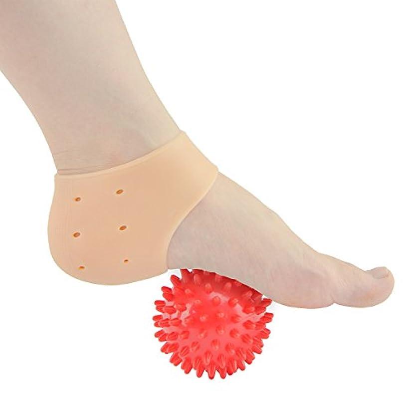 インフルエンザ専門用語仕様Sumifun かかと保護カバー, 足底筋膜炎治療ラップジェルスリーブフットマッサージ足痛み軽減 かかと痛サポーター 衝撃吸収 ジェルサポーター かかとケア 美足 保湿 かかと靴下