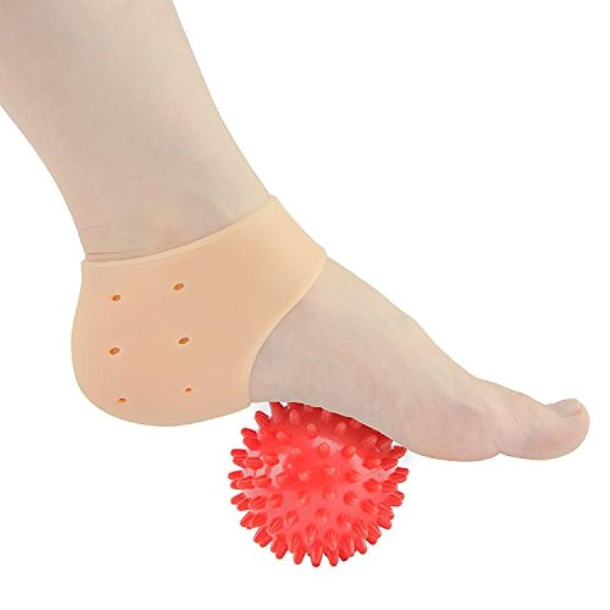 苦情文句キノコ使役Sumifun かかと保護カバー, 足底筋膜炎治療ラップジェルスリーブフットマッサージ足痛み軽減 かかと痛サポーター 衝撃吸収 ジェルサポーター かかとケア 美足 保湿 かかと靴下