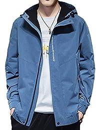 JHIJSC ジャケット メンズ コート 秋冬 ブルゾン カジュアル フード付き 防寒 防風 おしゃれ おおきいサイズ