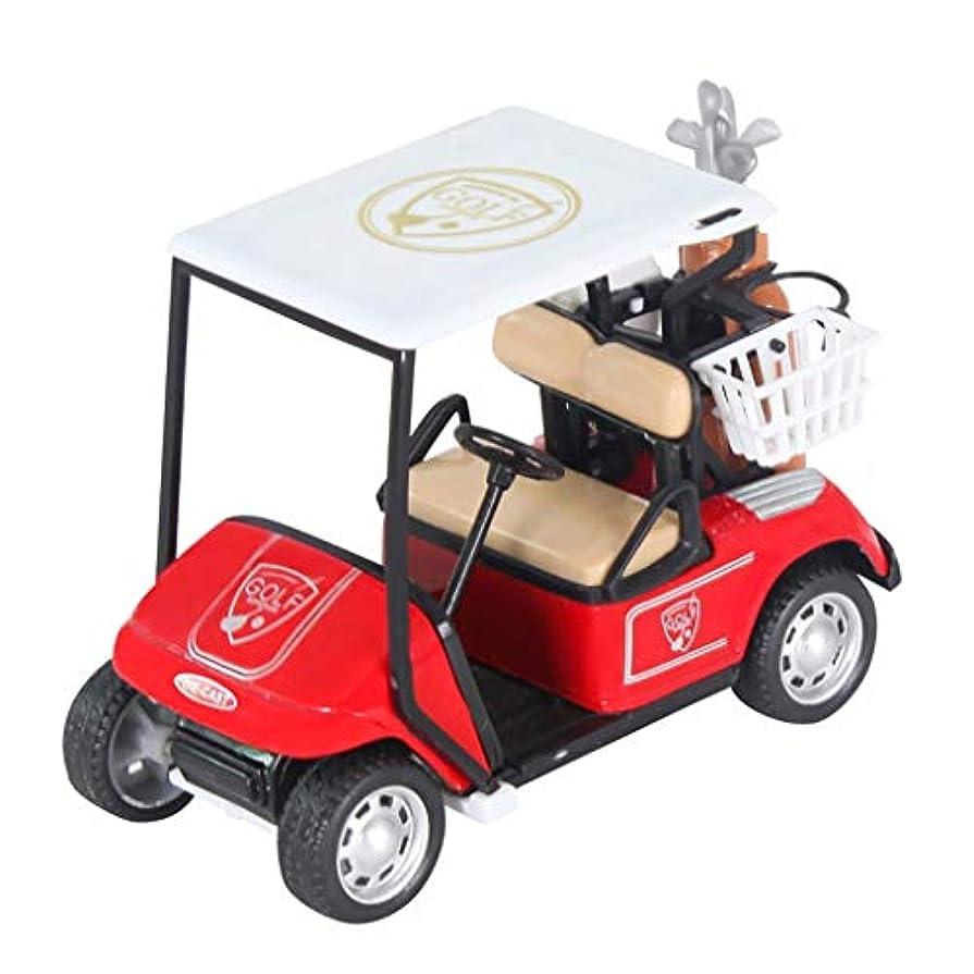 差別化する実行するハイキングに行くGOOD lask ミニゴルフカート模型玩具、子供用ギフト (赤)