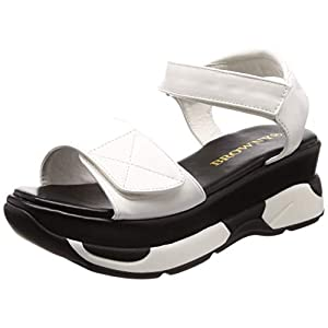 [ウィゴー] レディースファッションサンダル 厚底スポーツサンダル ホワイト 24.0~24.5 cm