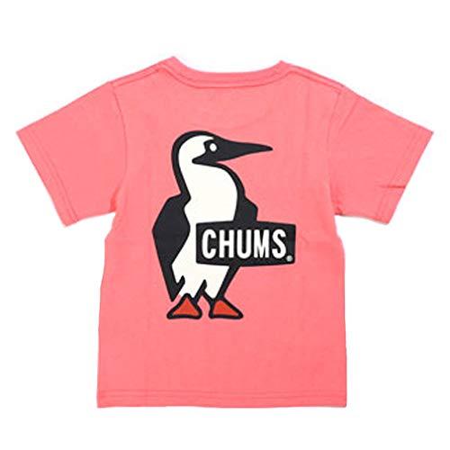 CHUMS チャムス キッズ ブービーロゴTシャツ L コーラル
