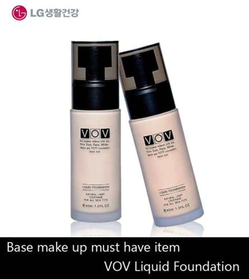 喜劇セージ居心地の良いLG Cosmetics VOV Liquid Foundation 40ml/Make-Up Base/Korea Cosmetic (#21 Natural Beige) [並行輸入品]