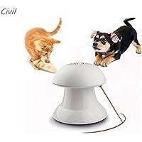 [Civil] 猫 おもちゃ 猫用光るおもちゃ 自動的に回転できる LEDポインター スピード調整 トレーニング