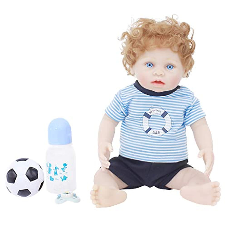 Baoblaze 青い服 45cmのリボーンドール かわいい ビニール製 幼児人形 新生児人形 子供おもちゃ
