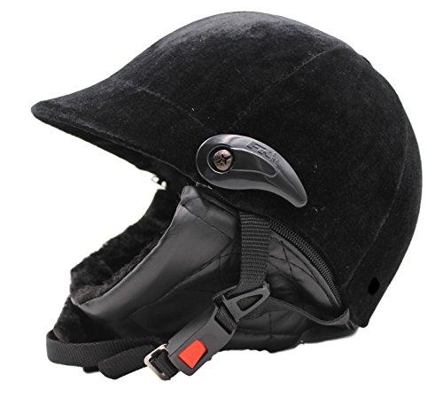 ダイヤル で 簡単 に サイズ の 微調整 が出来るので ピッタリ フィット しかも 軽量 タイプで ずれにくい から 練習 に 集中 できる 全面 スエード 調で 高級 感 ただよう 乗馬 馬術 用 ヘルメット ベロア TI011 (e.耳当付き スモークシールド)