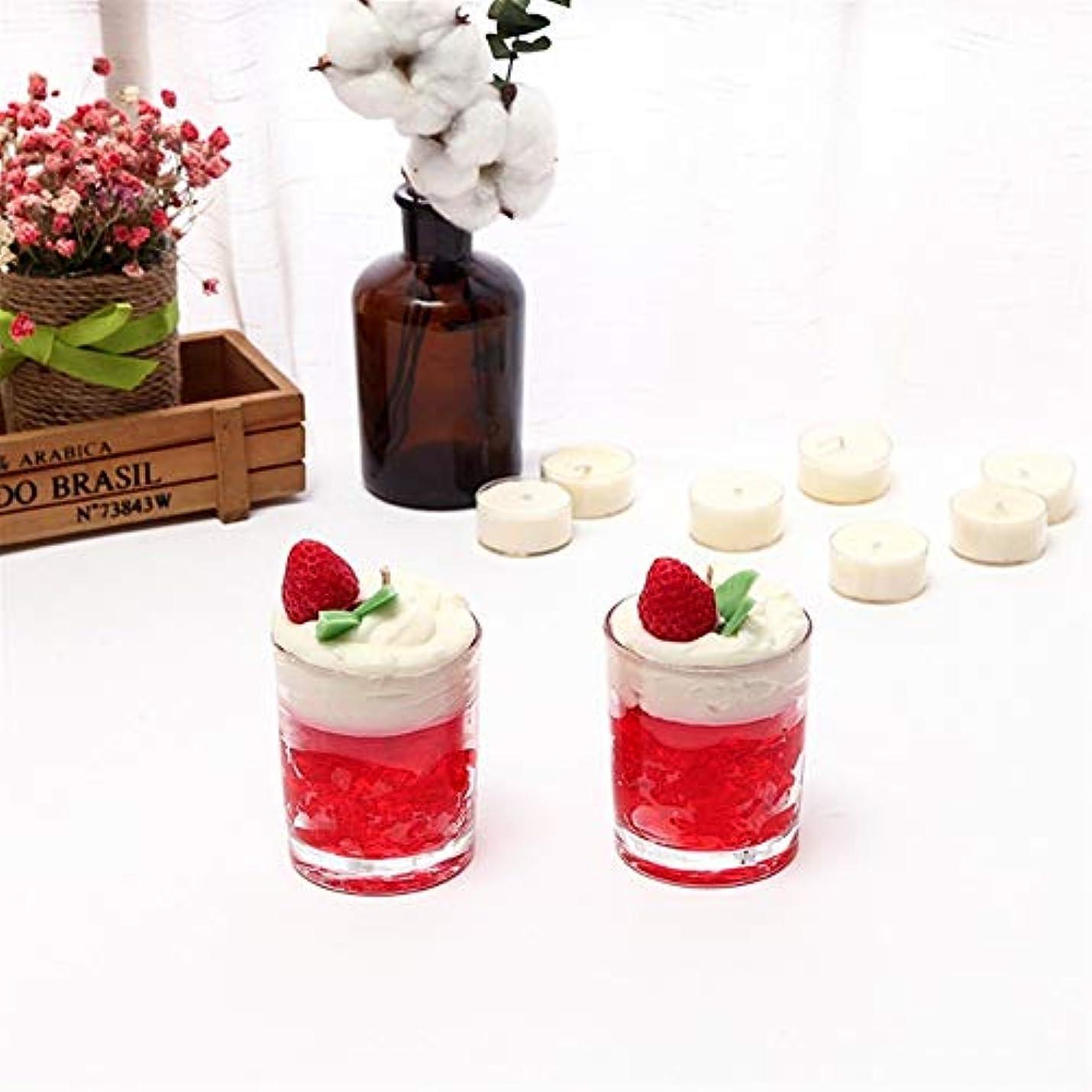 食事を調理するスクラブスパイラルGuomao アイスクリームキャンドルシンプルなガラス瓶アロマセラピーガラスカップ無毒な環境保護 (色 : Night scent)