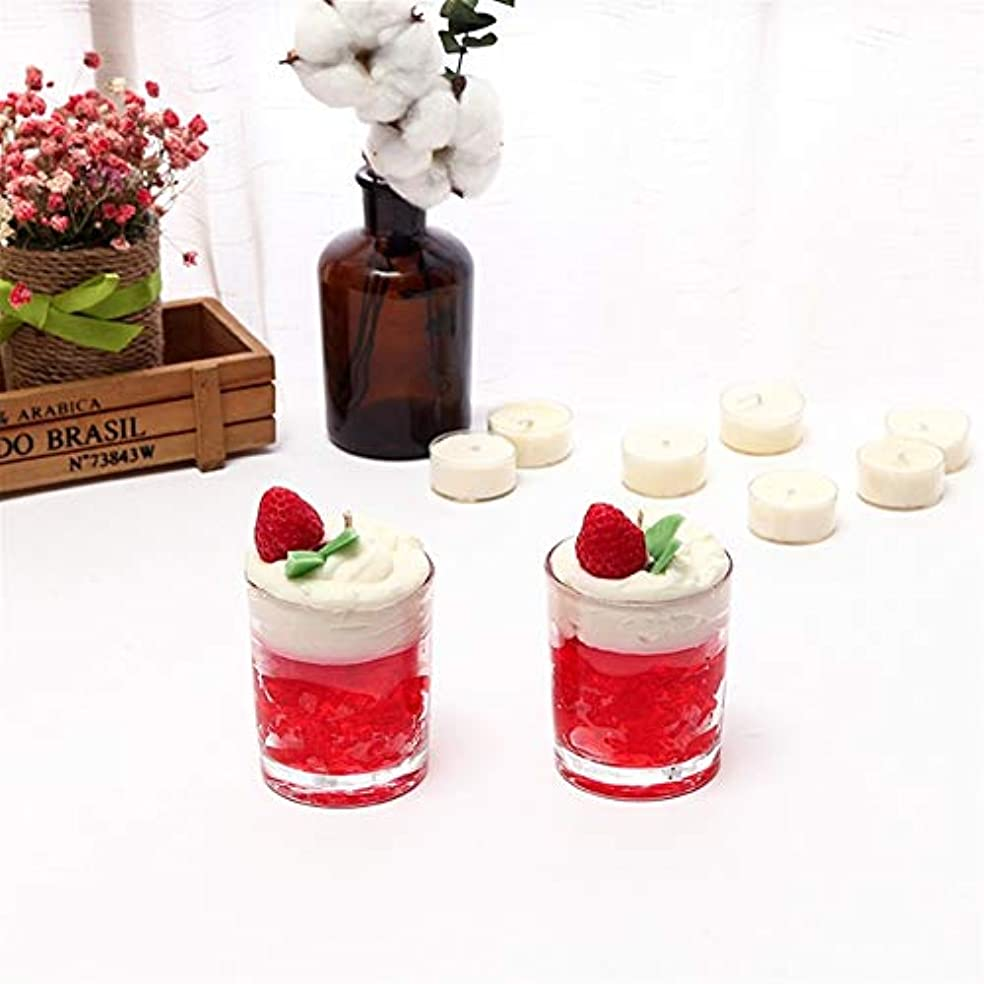 Ztian アイスクリームキャンドルシンプルなガラス瓶アロマセラピーガラスカップ無毒な環境保護 (色 : Marriage)