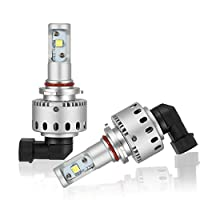 新品 車検対応 LEDヘッドライト フォグランプ CREE XHP50チップ搭載 2年保証 高輝度LEDヘッドライト DC12/24V 送料無料 7S HIR2/9012 [並行輸入品]