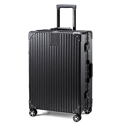 TABITORA(タビトラ) スーツケース 小型 人気 キャリーバッグ TSAロック搭載 旅行用品 出張 超軽量 大容量 静音 8輪 アルミフレーム 安心一年サービス 39L 4KG ブラック SS